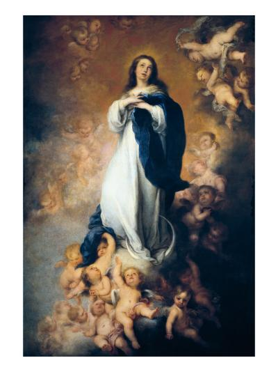"""The Immaculate Conception """"Of Soult""""-Bartolome Esteban Murillo-Art Print"""