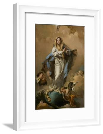 The Immaculate Conception of the Virgin, 1767-1768-Giambattista Tiepolo-Framed Giclee Print