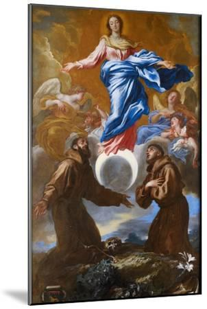 The Immaculate Conception with Saints Francis of Assisi and Anthony of Padua, 1650-Giovanni Benedetto Castiglione-Mounted Giclee Print