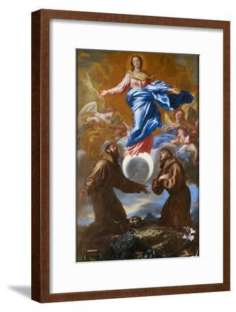 The Immaculate Conception with Saints Francis of Assisi and Anthony of Padua, 1650-Giovanni Benedetto Castiglione-Framed Giclee Print