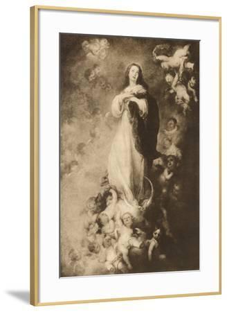 The immaculate Conception-Bartolome Esteban Murillo-Framed Giclee Print