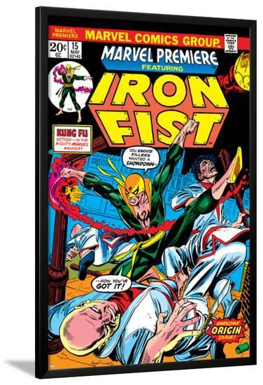 The Immortal Iron Fist: Marvel Premiere No.15 Cover: Iron Fist-Gil Kane-Lamina Framed Poster