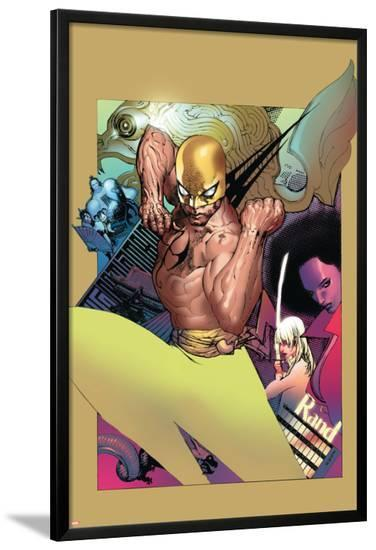 The Immortal Iron Fist No.20 Cover: Iron Fist-Travel Foreman-Lamina Framed Poster
