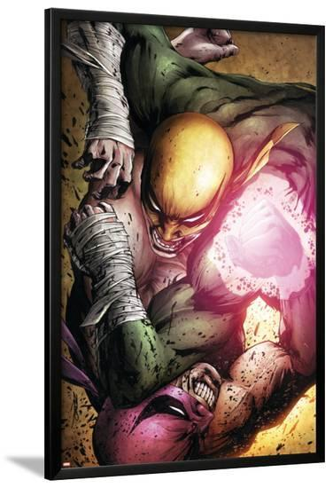 The Immortal Iron Fist No.26 Cover: Iron Fist-Patrick Zircher-Lamina Framed Poster