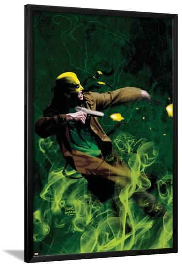 The Immortal Iron Fist: Orson Randall And The Green Mist Of Death No.1 Cover: Iron Fist-Kaare Andrews-Lamina Framed Poster