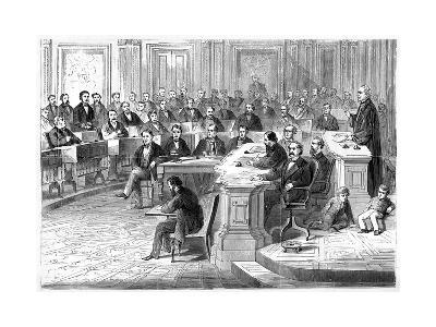 The Impeachment of Andrew Johnson, 5 March 1868--Giclee Print