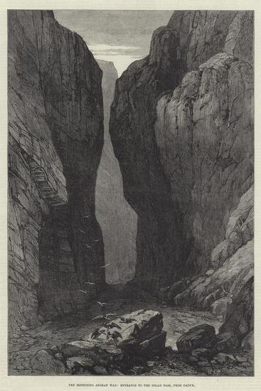 The Impending Afghan War, Entrance to the Bolan Pass, from Dadur--Giclee Print