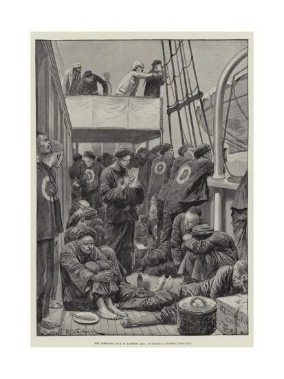 The Impending War in Eastern Asia, on Board a Chinese Troop-Ship-Richard Caton Woodville II-Giclee Print