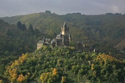 The Imperial Castle Near Cochem on the Moselle in the Diffuse Light of an Autumn Day-Uwe Steffens-Photographic Print