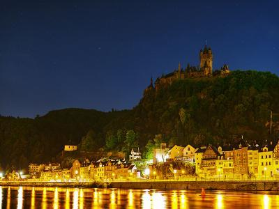The Imperial Castle of Cochem Sits Above the Town on the Moselle River-Babak Tafreshi-Photographic Print