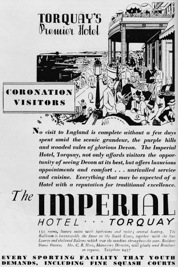 The Imperial Hotel, Torquay, 1937--Giclee Print