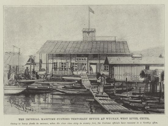 The Imperial Maritime Customs Temporary Office at Wuchan, West River, China-Melton Prior-Giclee Print