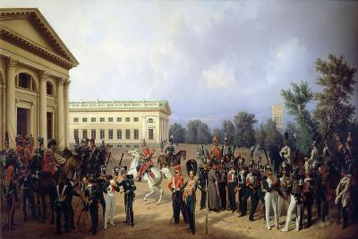 The Imperial Russian Guard in Tsarskoye Selo in 1832, 1841-Franz Kruger-Giclee Print