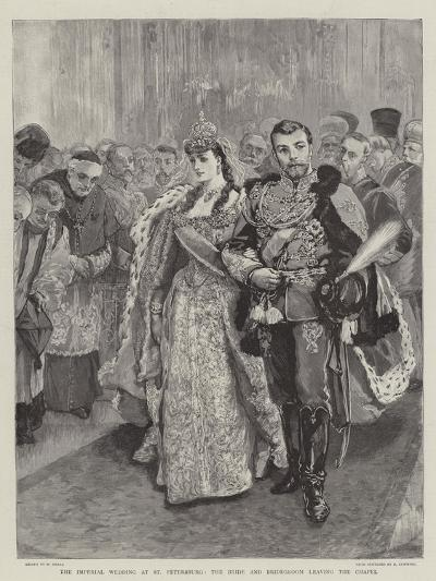 The Imperial Wedding at St Petersburg, the Bride and Bridegroom Leaving the Chapel-William Small-Giclee Print