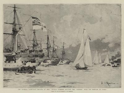 The Imperial Yacht-Club Regatta at Kiel-Eduardo de Martino-Giclee Print