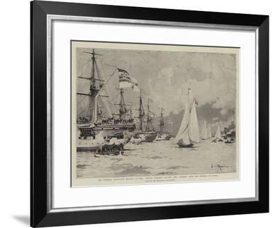 The Imperial Yacht-Club Regatta at Kiel-Eduardo de Martino-Framed Giclee Print