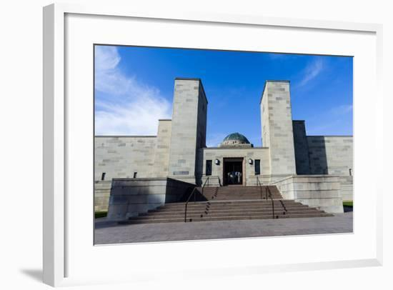 The Imposing Entrance to the Australian War Memorial from the Anzac Parade-Jason Edwards-Framed Photographic Print