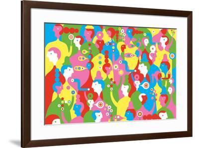 The In Crowd-Melinda Beck-Framed Art Print