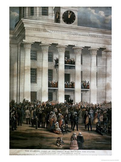 The Inauguration of Jefferson Davis, c.1861-James Massalon-Giclee Print