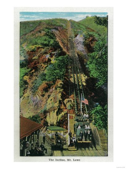 The Incline at Mt. Lowe - Mt. Lowe, CA-Lantern Press-Art Print