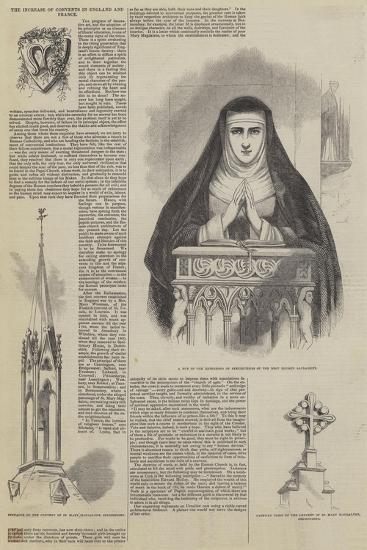 The Increase of Convents in England and France--Giclee Print