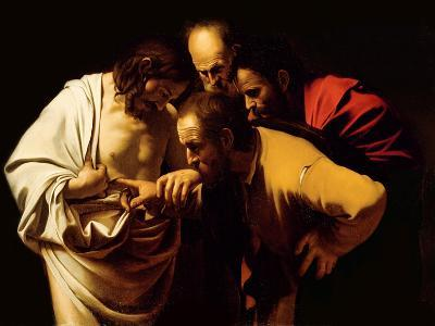 The Incredulity of St. Thomas, 1602-03-Caravaggio-Giclee Print