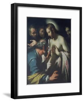 The Incredulity of St. Thomas-Bernardo Strozzi-Framed Giclee Print