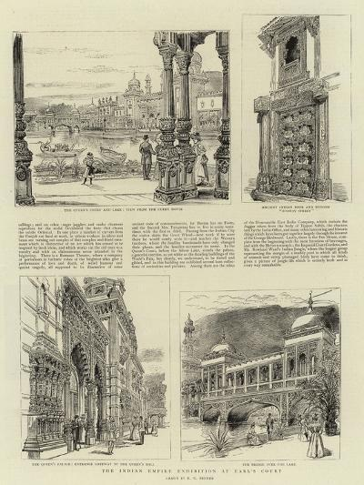 The Indian Empire Exhibition at Earl's Court-Henry William Brewer-Giclee Print
