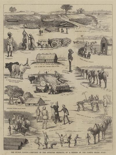 The Indian Famine, Sketches in the Affected Districts, by a Member of the Famine Relief Staff--Giclee Print