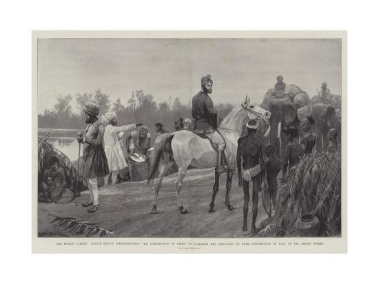 The Indian Famine-Richard Caton Woodville II-Giclee Print