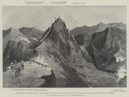 The Indian Frontier Rising-Charles Auguste Loye-Giclee Print