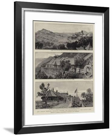 The Indian Frontier Troubles, Murree, the Head-Quarters of the Punjab Army-Frederick George Cotman-Framed Giclee Print