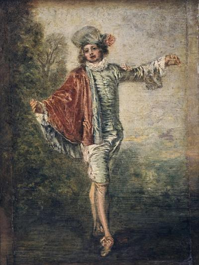 The Indifferent One, 1717-Jean-Antoine Watteau-Giclee Print