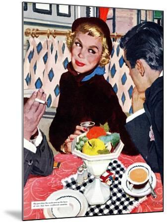 "The Indiscreet Window  - Saturday Evening Post ""Leading Ladies"", January 20, 1951 pg.20-Joe deMers-Mounted Giclee Print"