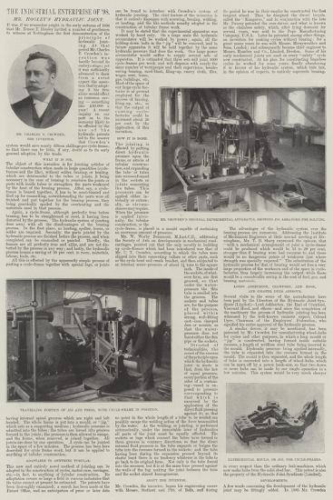 The Industrial Enterprise of 1898, Mr Hooley's Hydraulic Joint--Giclee Print