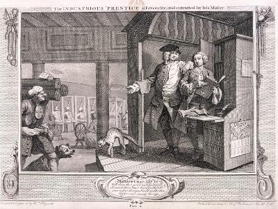 The Industrious Apprentice a Favourite ..., Plate IV of Industry and Idleness, 1747-William Hogarth-Giclee Print