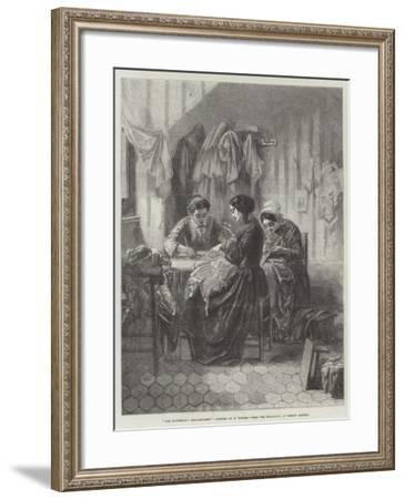 The Industrious Needlewomen--Framed Giclee Print