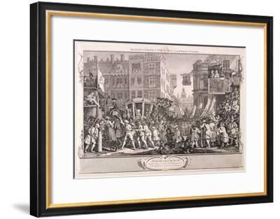 The Industrious Prentice Lord-Mayor of London, Plate XII of Industry and Idleness, 1747-William Hogarth-Framed Giclee Print