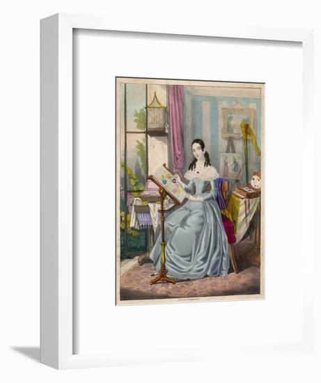 The Industrious Young Lady' - a Victorian Girl and Her Accomplishments--Framed Giclee Print
