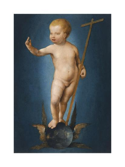 The Infant Christ on the Orb of the World, Ca 1530-Joos Van Cleve-Giclee Print