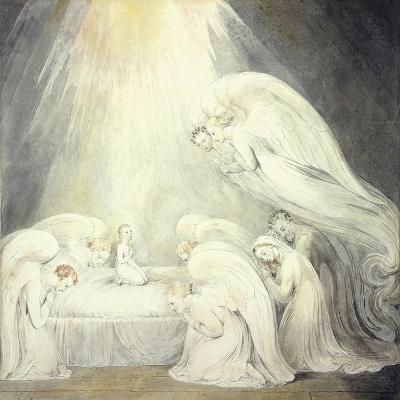 The Infant Jesus Saying His Prayers, C.1805-William Blake-Giclee Print