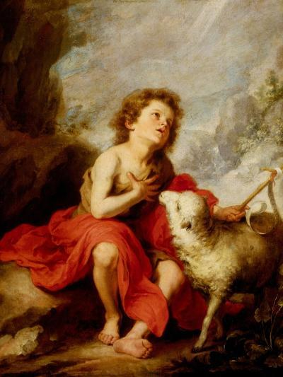 The Infant Saint John the Baptist-Bartolome Esteban Murillo-Giclee Print