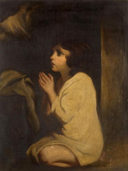 The Infant Samuel-Sir Joshua Reynolds-Giclee Print