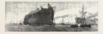 The Inflexible Being Towed to Her Moorings, 1876, UK--Giclee Print