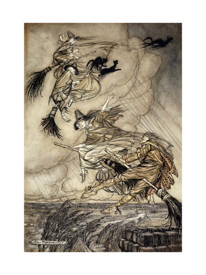 The Ingoldsby Legends: Frontispiece-Arthur		 Rackham-Giclee Print