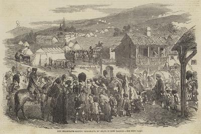 The Inhabitants Leaving Balaclava, by Order of Lord Raglan--Giclee Print