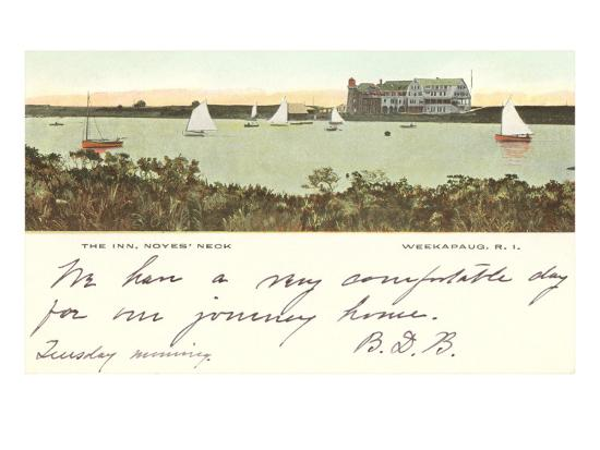 The Inn, Noyes' Neck, Weekapaug, Rhode Island--Art Print