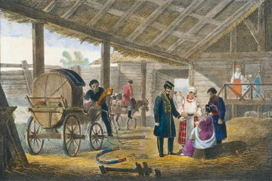 The Inn on the Roadside, 1820-Alexander Pluchart-Giclee Print
