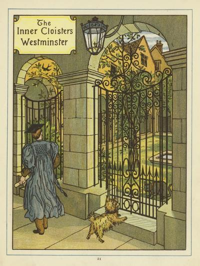 The Inner Cloisters of Westminster-Thomas Crane-Giclee Print
