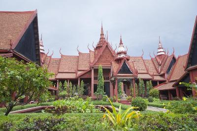 The Inner Courtyard of the National Museum in Phnom Penh, Cambodia--Giclee Print